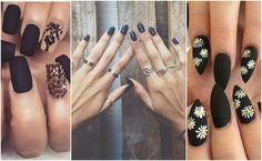 Jesienne trendy: 16 pomysłów na czarne paznokcie z efektem matu [GALERIA INSPIRACJI]
