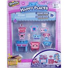 """Shopkins Happy Places Decorator Pack - Dreamy Bear Bedroom - Imports Dragon - Toys""""R""""Us"""