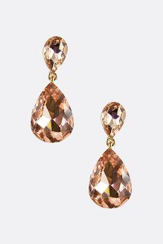 Classic Champagne Teardrop Earrings | Emma Stine