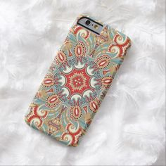 Chic Colorful Retro Red Turquoise Teal Kaleidoscope Moroccan Mosaic Pattern iPhone 6 Case