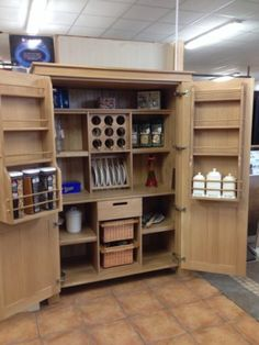 solid pine kitchen larder unit/cupboard/storage unit | Kitchen ...