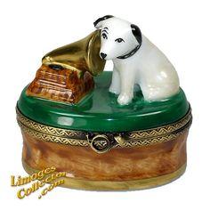 RCA DOG HIS MASTER'S VOICE LIMOGES BOX (BEAUCHAMP)