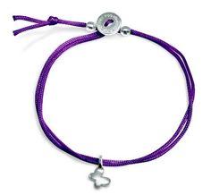 "Alex Woo ""Mini Cord Bracelet"" Purple with Sterling Silver Mini Butterfly Bracelet Alex Woo, http://www.amazon.com/dp/B005GBSPWS/ref=cm_sw_r_pi_dp_hPchrb01RTK1G"