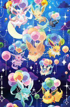 maridrawsdotcom: http://maridraws.storenvy.com/products/7480410-eeveelutions-phone-case-preorder Also finally put the poster version up: http://maridraws.storenvy.com/products/11353806-eevee-balloons-13x19-poster