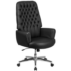 hercules series 400 lb capacity big tall black leather executive