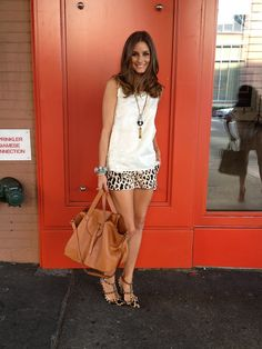 Style Crush: Olivia Palermo, Animal Print, New York Fashion Week