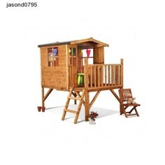 Childrens Wooden Outdoor Playhouse Garden, Fun Kids Play Toys Backyard Playset