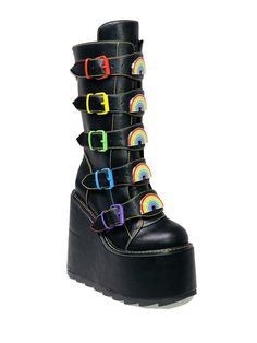 Kawaii Shoes, Kawaii Clothes, Kawaii Goth, Dr Shoes, Me Too Shoes, Edgy Outfits, Grunge Outfits, Grunge Shoes, Gothic Outfits