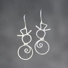 Silver Wiring earrings  Bridesmaid gifts Free US Shipping handmade Anni designs by AnniDesignsllc on Etsy https://www.etsy.com/listing/214211404/silver-wiring-earrings-bridesmaid-gifts