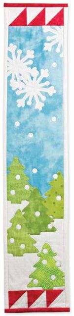 Winter Scene Wall Hanging #quilt #pattern from Accuquilt