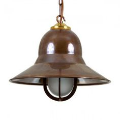 #Nautical spun #brass #pendant #light stunning quirky
