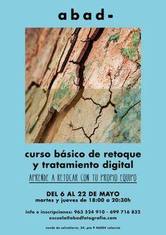 Curso básico de retoque y tratamiento digital en ABADEscuela Valencia. Mayo 2014. Más info: http://photomamp.wordpress.com/2014/04/16/curso-basico-de-retoque-y-tratamiento-digital-en-abadescuela-valencia-mayo-2014/
