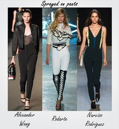 The pants game takes the slim route for next spring. For more trends seen at #NYFW, click on this link: http://socksnbirkenstocks.blogspot.com/2014/09/nyfw-trend-alert.html #TRENDALERT