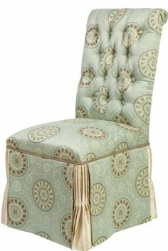 Jennifer Taylor Fortune Parson Chair, Seamist Green by Jennifer Taylor. $133.53. Fortune Collection. Main Fabric Color:  Seamist Green. Parson Chair, Assembly Not Required. Dry clean/spot clean only. Main Fabric Type:  Jacquard. Jennifer Taylor Fortune Parson Chair, Seamist Green, Jacquard, Assembly Not Required, 19 3/4 by 26 3/4 by 41-1/2-Inch, Dry clean/spot clean only.. Save 77% Off!