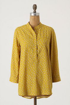 Sea Whims Tunic in mustard | Anthropologie