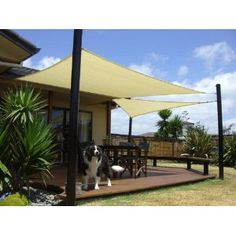 A sun shade sail is a great alternative to a gazebo, pergola or patio umbrella because it can move to different places with ease, and save money to do it