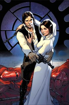 Star Wars #1 Han and Leia variant cover