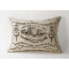 Zentique Inc. French Country Down Blend Pillow with Illustrations