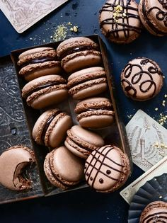 Chocolate Macarons Recipe - Supergolden Bakes Chocolate Sprinkles, Chocolate Ganache, Best Chocolate, Delicious Chocolate, Liquid Food Coloring, How To Make Macarons, French Bakery, Macaron Recipe, Almond Flour