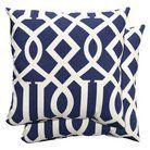 """Target Home™ 2-Piece Outdoor Toss Pillow Set - Blue Fretwork 16"""""""