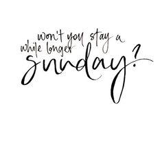 Sunday feels