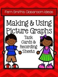 Using and Making Picture Graphs Task Cards and Recording Sheet No Common Core {An additional resource for Go Math, Third Grade, Chapter One.} #TPT $Paid