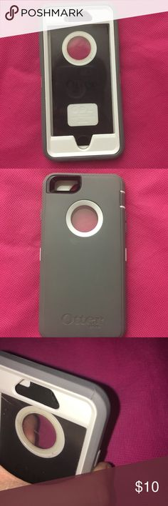 😍😍OtterBox case for iPhone 6s😍😍 For iPhone 6s, has a minor tear in the last photo but does not interfere with the function of the case, missing the button cover too. Offers are welcomed👄👄 OtterBox Accessories Phone Cases