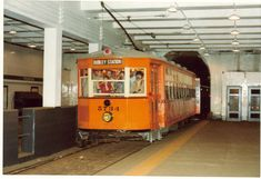 MBTA Streetcar on fan trip . Boston Street, In Boston, Third Rail, Railroad Pictures, Light Rail, Busses, Public Transport, New England, Organizing
