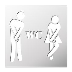 Pochoir WC Homme Femme