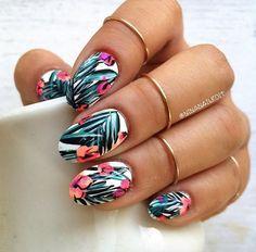 Tropical Art nails by Nina Park