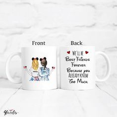 Patriotic best friends gifts - you're my person - Unique Friendship Gift - Coffee Mug Birthday Gifts For Bestfriends, Friend Birthday Gifts, Diy Birthday, Happy Birthday, Presents For Best Friends, Diy Gifts For Friends, Gifts For Teens, Guy Best Friend, Best Friend Gifts