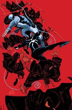 Wolverine  The Scarlet Spider// artwork byRyan Stegman(2013)