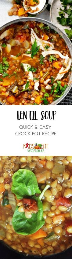 Lentil soup is quite comforting. Its easy and simple to make.  You can throw together a few ingredients, and youd have a pot of delicious, healthy meal for your family.  This is my go-to recipe when my family wants something nourishing and filling for d