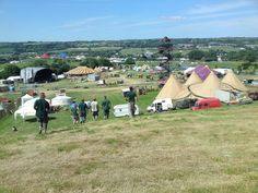 Glastonbury tipis courtesy of World Inspired