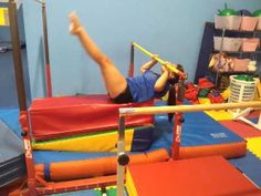 Here is a great pullover drill for beginning gymnasts!  Know a kid interested in gymnastics?  Visit our website for information and enrollment!  http://www.pinngym.com/