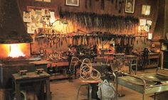View of forging area in Tom Joyce's workshop, 2003--Wow!