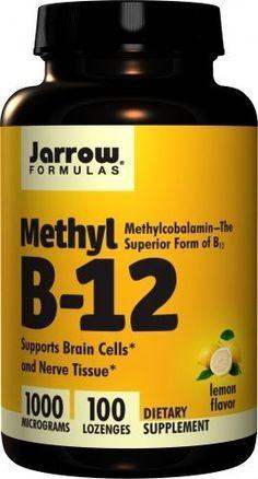 Methyl B-12 - 1000 Mcg - Lemon Flavor - 100 Lozenges - Jarrow Formulas