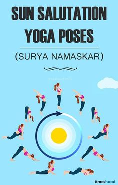 Sun Salutation Yoga Pose Sequence. Sun Salutation (Surya Namaskar) Yoga pose for Weight Loss. Beginner in yoga? Start with Sun Salutation, powerful yoga for weight loss, especially for belly fat
