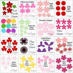 The Small Paper Flower Library has arrived! After 7 years of creating flower templates I decided to combine them into one huge library! You will receive LIFETIME ACCESS TO 35+ SMALL FLOWER TEMPLATES! A crafters ultimate dream! Perfect holiday gift! STYLES/FORMATS