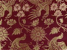wonderful reproduction: Silk brocade Italy, medieval pattern, 14th century