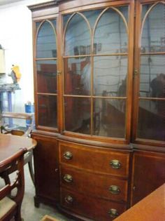 antique cabinets with glass doors | antique mahogany breakfront
