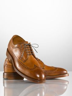 Ralph Lauren Sanderson Burnished Wingtip.