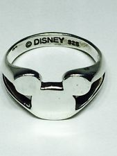 Disney Mickey Mouse Sterling Silver Ring Size 5