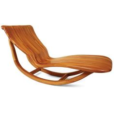 "Divan $3800 Hand-crafted from select red cedar and laminated for structural and visual effect - this chaise has a seductive yet ergonomic design. 63""w x 25""d x 29""h:"