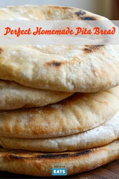 Homemade pita, perfect for splitting and filling with your choice of…