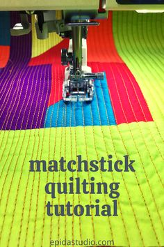Add lots of texture to your next quilt with matchstick quilting. This tutorial breaks it down into easy steps. Quilting Patterns, Quilting Tutorials, Quilting Ideas, Quilting Designs, Book Quilt, Quilt Top, Walking Foot Quilting, Straight Line Quilting, Quilting For Beginners