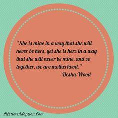 Motherhood <3 #lifetimeadoption #adoption #love #adoptionquotes