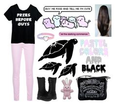 """Pastel Goth?"" by yandereotaku ❤ liked on Polyvore featuring J Brand, Retrò, BC Footwear, women's clothing, women's fashion, women, female, woman, misses and juniors"