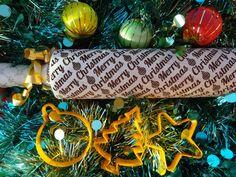 MERRY CHRISTMAS rouleau à pâtisserie avec emporte-pièces