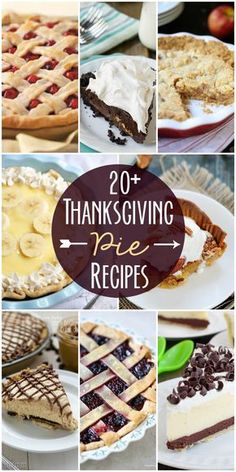 20+ Delicious pie recipes perfect for thanksgiving!! See it on { lilluna.com } Thanksgiving Desserts, Holiday Desserts, Holiday Baking, Just Desserts, Holiday Recipes, Delicious Desserts, Holiday Foods, Autumn Pie Recipes, Pies For Thanksgiving